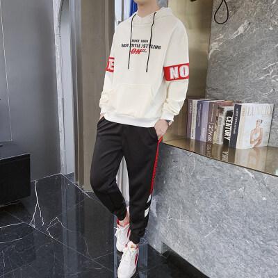 男士卫衣套装春秋季宽松运动连帽衫韩版潮流外套潮牌两件一套男装
