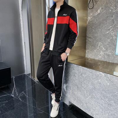 2019秋季新款男士长袖套装潮流衣服男装一套搭配帅气休闲套装