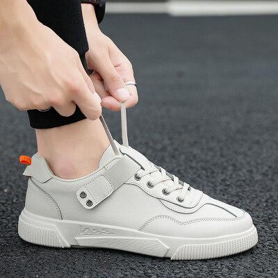 长红T35运动鞋潮鞋韩版潮流皮面板鞋青少年学生黑色小皮鞋子
