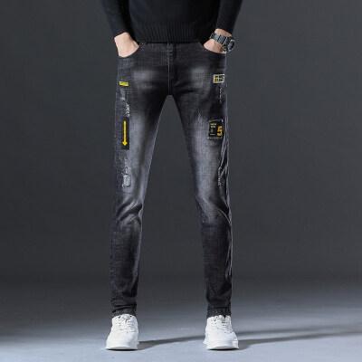 9013时尚靓仔 秋冬新款牛仔长裤