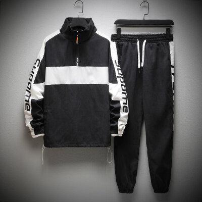 【内附质检】男士卫衣套装2019新款嘻哈秋季宽松两件套 BT185 P85