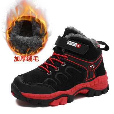 冬季棉鞋童鞋户外棉鞋高邦男童雪地靴加绒加厚保暖女童中大童棉鞋