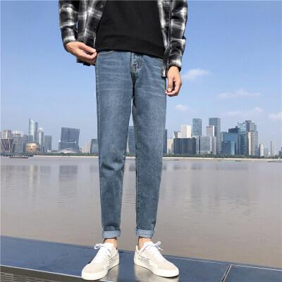 长裤 男士 牛仔裤吸水复古港风牛仔裤修身小脚时尚百搭 男装青年