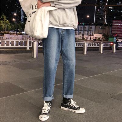 有大货 港风男士秋冬百搭 水洗牛仔裤 长裤下装男款 港味裤子男