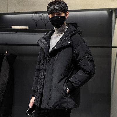 短款羽绒服男冬季宽松连帽韩版青年时尚保暖休闲加厚883羽绒服
