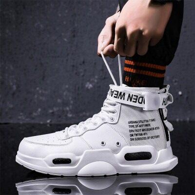 男鞋时尚运动鞋潮流中帮鞋新款透气爆款鞋百搭跑步潮鞋男士板鞋