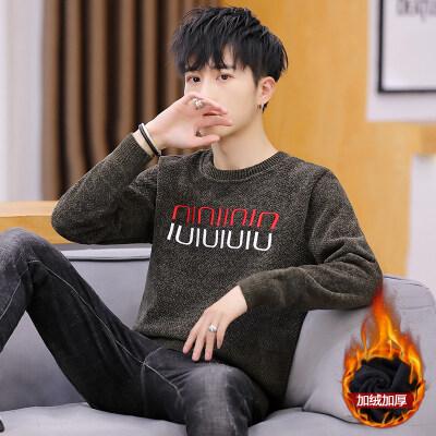 2020男士毛衣春秋季新款休闲韩版潮流个性帅气加绒