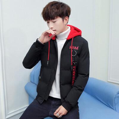 男士外套2019冬季新款加厚棉服韩版连帽棉袄修身时尚棉服