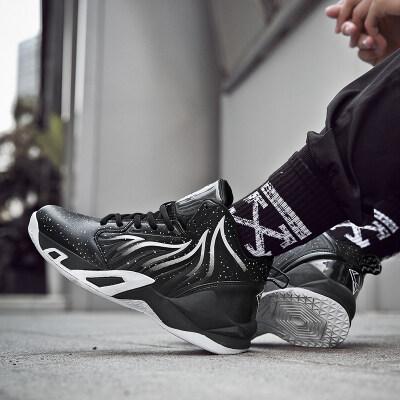 冬季篮球鞋男秋冬黑武士球鞋高帮减震战靴防滑耐磨大码运动鞋男鞋