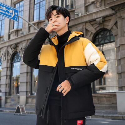 2019冬季新品加厚连帽羽绒服男士短款青年白鸭绒保暖休闲外套