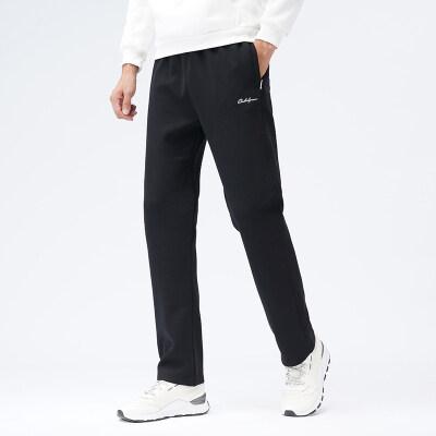 2020新款针织运动加绒加厚中老年爸爸装直筒休闲直筒长裤