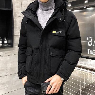男士工装棉衣男2019新款加厚棉袄冬装潮