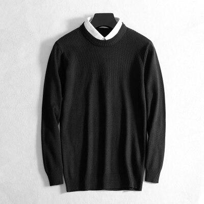 2019新款毛衣男秋假两件衬衫领 2种主图5个色 8908