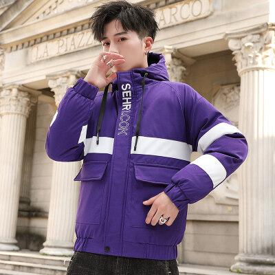 男士工装棉衣外套冬季2019新款韩版潮流冬天加厚棉袄