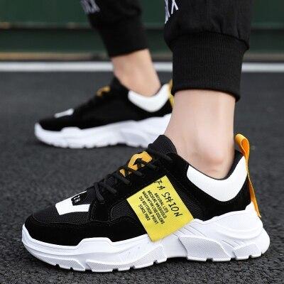 男鞋秋季2019新款白色运动鞋男士跑步鞋休闲鞋老爹鞋子男潮鞋