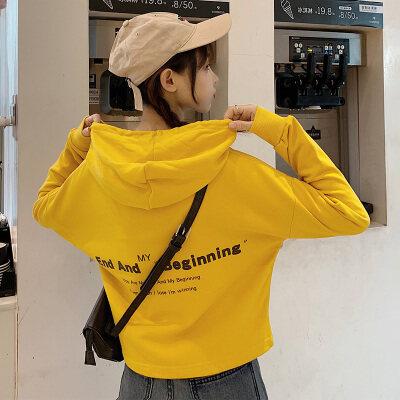 一件代发女装卫衣女秋季2019新款ins超火长袖圆领印花宽松