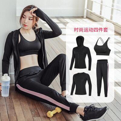 2019四季长袖女款健身房初学者健身服跑步透气速干紧身衣运动套装