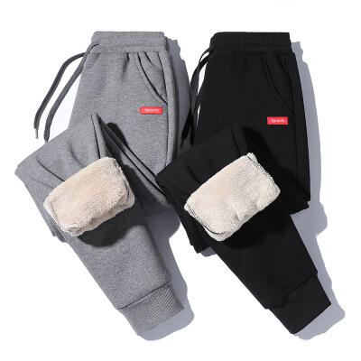 纯棉羊羔绒休闲裤加绒加厚棉裤冬季保暖针织小脚裤量大可议价