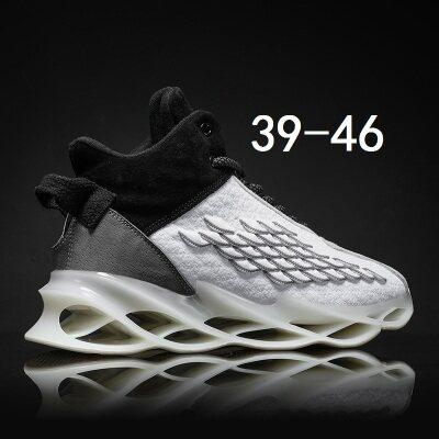 满足【G126】秋冬季中高帮鱼鳞刀锋椰子篮球休闲男鞋39-4