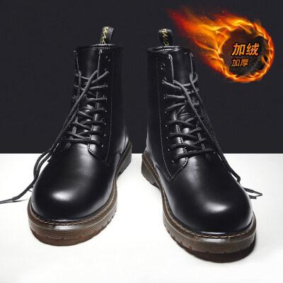 涌哥★M598 明星款加绒男高帮鞋棉鞋八孔马丁靴工装靴小皮鞋