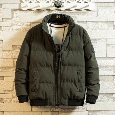 新款秋冬季男士韩版休闲棉衣外套修身羽绒棉服