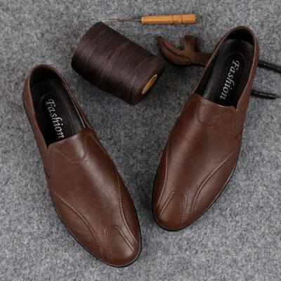 豆豆鞋男2019秋季新款男士皮鞋韩版潮鞋休闲鞋子一脚蹬厂家直销