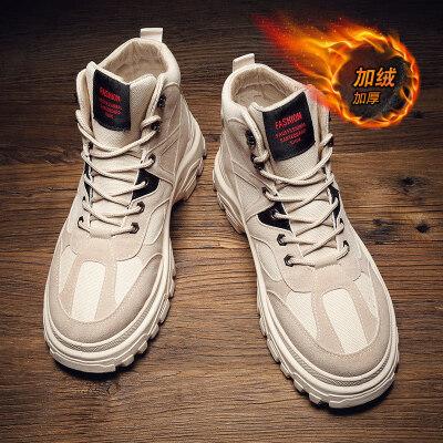 涌哥★M9226 冬季棉鞋加绒男鞋高帮鞋马丁靴工装靴男鞋潮鞋