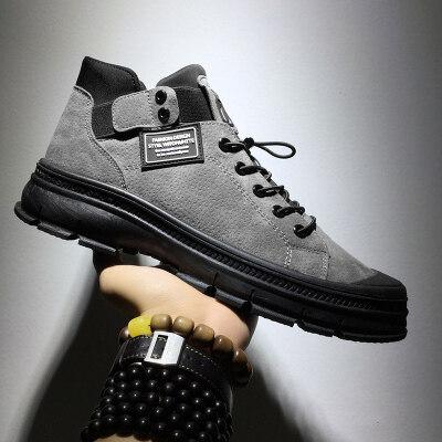 涌哥★K905 冬季男鞋高帮鞋包头鞋中帮马丁靴工装靴复古