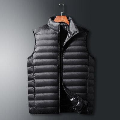 2020冬季新款羽绒服男士马甲时尚立领坎肩轻薄羽绒背心男上衣