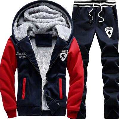 2019秋季新款男士休闲运动套装青少年学生三件套男士外套潮