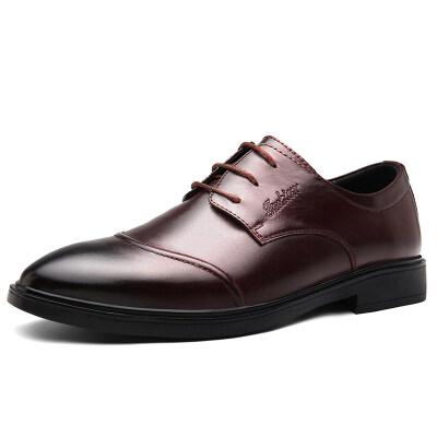 正阳1637大码商务休闲皮鞋37-46头层皮p125皮鞋码