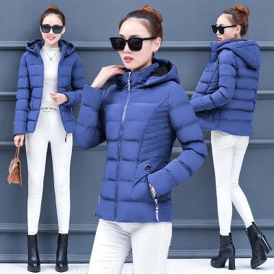 现货一件代发女装羽绒棉服女短款韩版百搭棉衣外套冬季2019