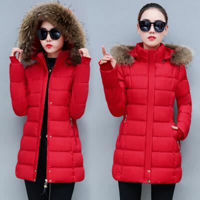 现货一件代发2019冬季新款韩版羽绒棉服女中长款棉衣