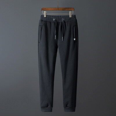加绒加厚运动裤男长裤羊羔绒中老年人爸爸裤子宽松保暖松紧休闲裤