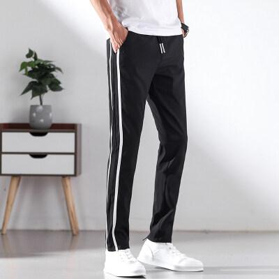 冰丝休闲裤男士宽松弹力长裤修身小脚裤子韩版速干运动裤男潮