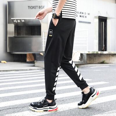 【防棉】不起球运动裤男裤子韩版潮流针织束脚长裤休闲裤