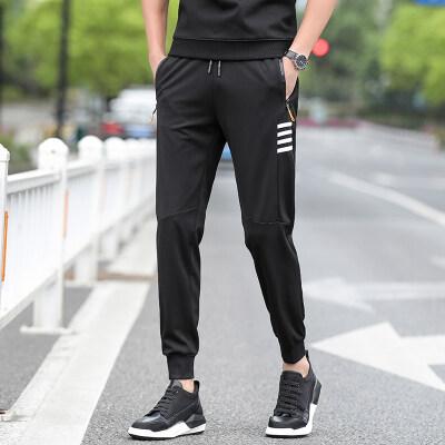 【防棉】不起球休闲裤男长裤宽松男士拉链运动束脚裤
