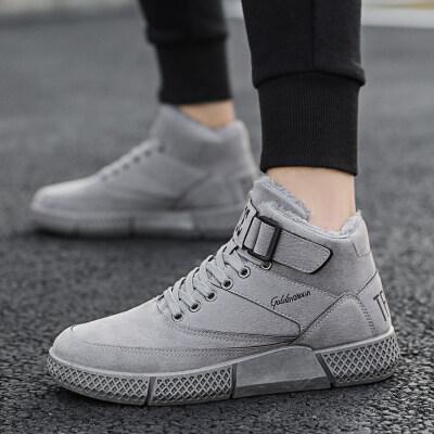 【誉诚鞋业-L1905-注塑】专利款加绒时尚板鞋-特价40