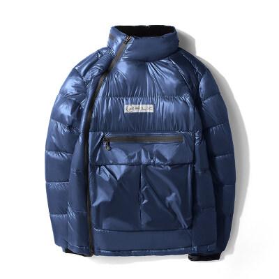 冬季保暖棉衣可隐藏连帽柔软羽绒棉亮面潮牌棉袄57280 P110
