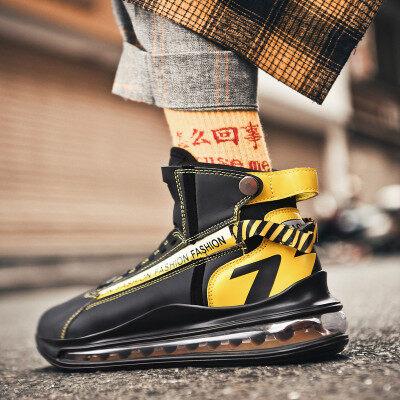 鞋子男aj怒吼天尊气垫篮球鞋韩版潮流休闲运动鞋冬季百搭高帮潮鞋