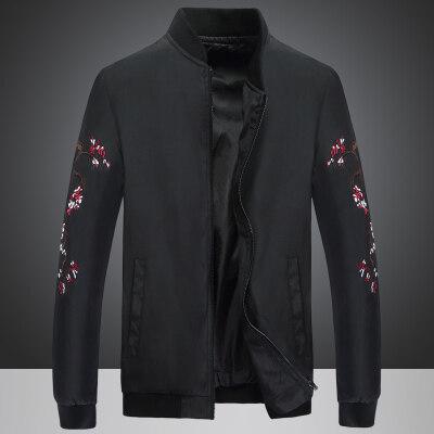 男装棒球领夹克2020春季新款中国风国潮刺绣外套上衣潮青年