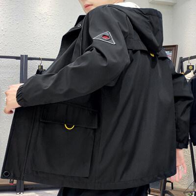 2020春季新款外套男韩版潮流连帽工装夹克男士短款工装外套秋