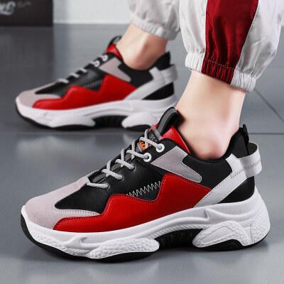 长红012春季休闲鞋皮面潮流运动鞋39-44-45元量大优惠