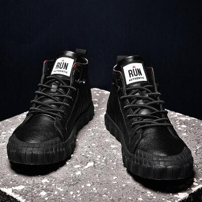 新款英伦风板鞋潮流韩版百搭学生潮鞋男休闲厂家直供高帮鞋休闲鞋