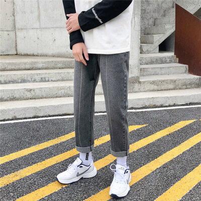 牛仔裤男直筒宽松坠感ins阔腿裤韩版潮流百搭男士潮牌牛仔裤