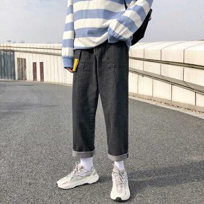 K63 送皮带 男士宽松阔腿裤百搭夏季九分裤男装时尚潮流 9分