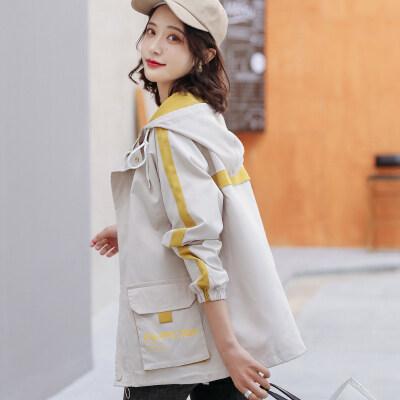 现货一件代发时尚休闲外套潮流宽松风衣夹克