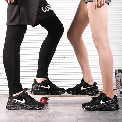 潮元素airmax 90透气网布款情侣气垫鞋