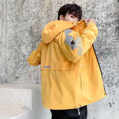 外套男春秋季2020新款韩版潮流百搭休闲上衣服机能工装夹克