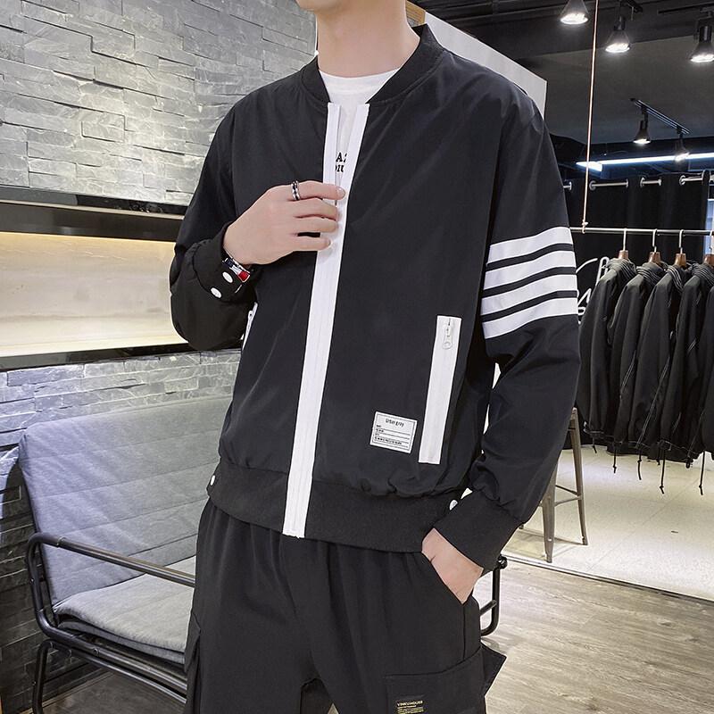 2020春秋季新款棒球领夹克男潮牌薄款休闲风衣男士外套